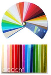 kleurenpas en kleurenwaaier
