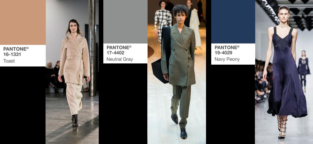 modekleuren najaar 2017 Toast, Navy Peony en Grey