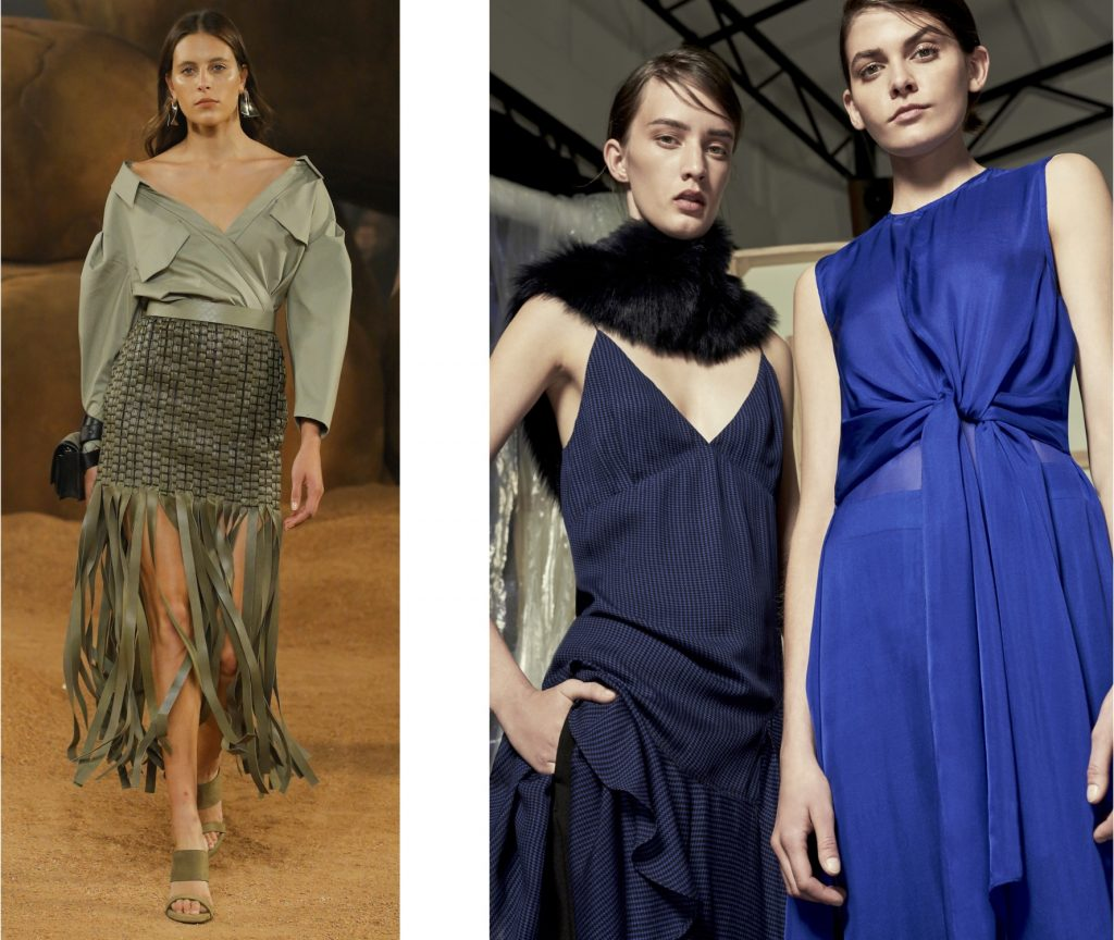olijfgroen en kobaltblauw modebeeld 2019