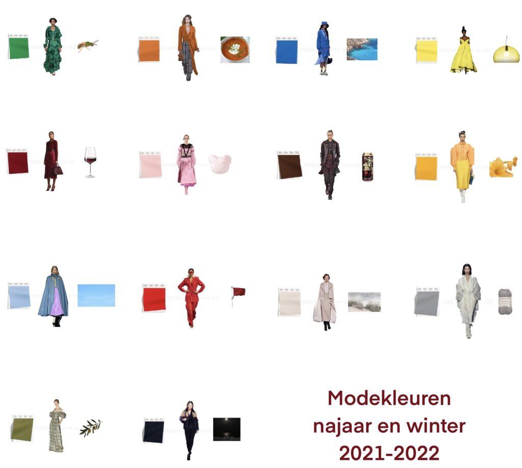 Modekleuren najaar en winter 2021-2022
